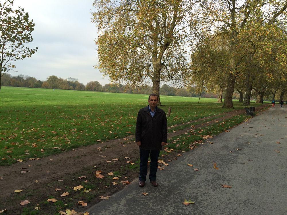 Görünen bu devasa alan Hyde Park'ın yalnızca bir bölümü