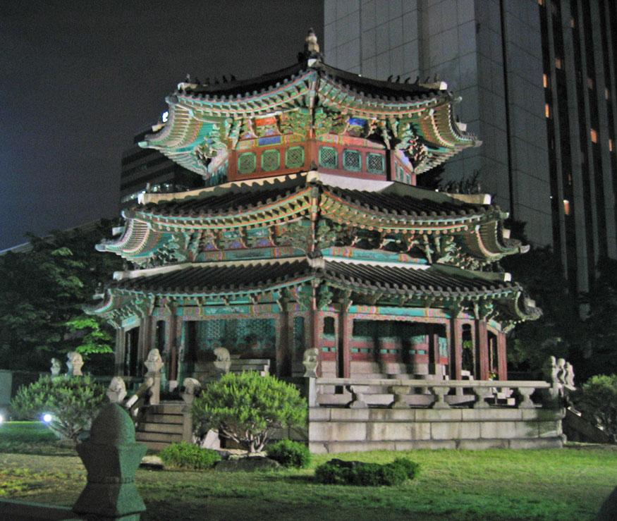 Seul'de geleneksel mimari örneği