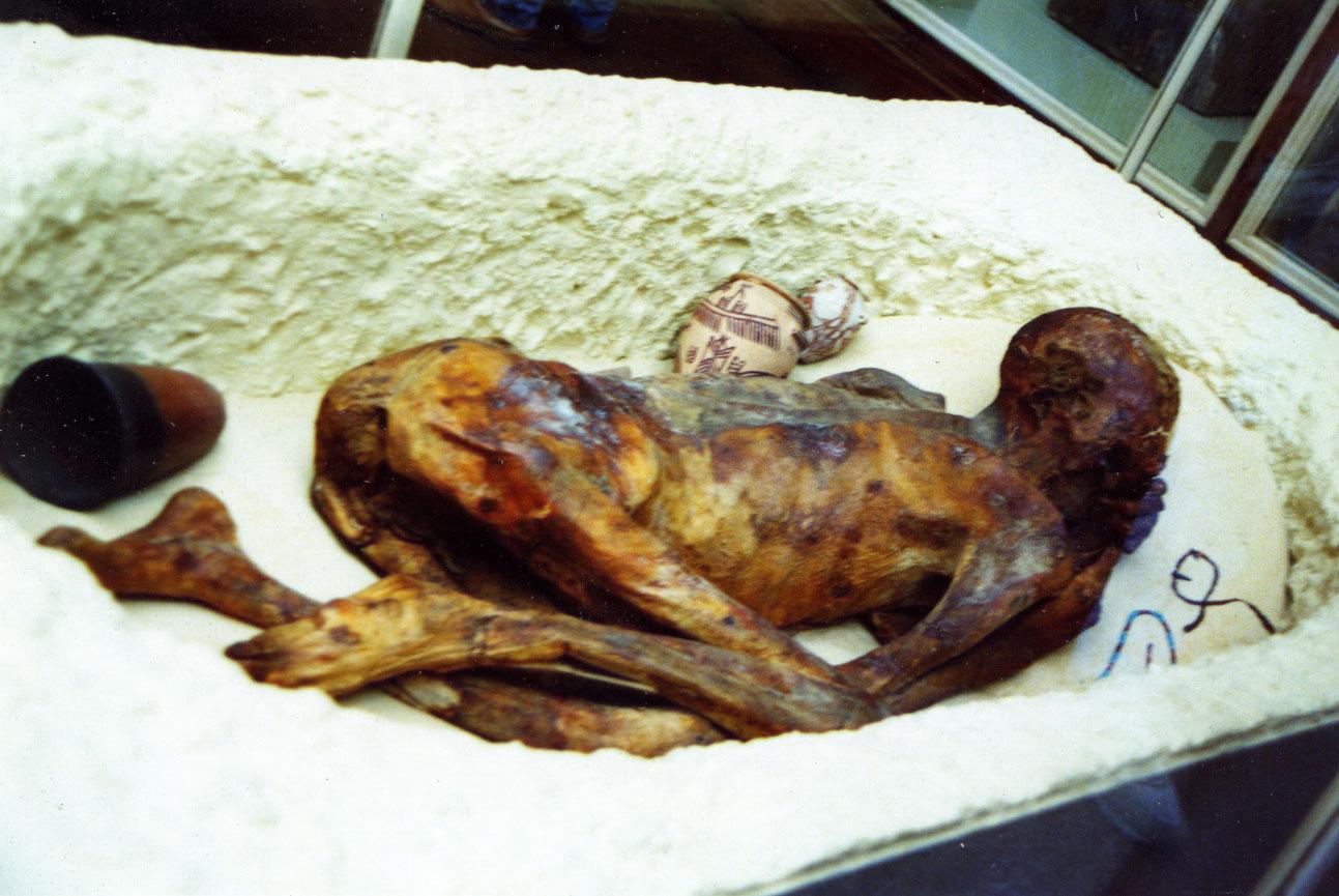 """British Museum'daki bu cesedin, Yunus Suresi'ndeki """"Biz de bugün bedenini, arkandan geleceklere ibret olman için kurtaracağız"""" ifadesinin muhatabı olan Firavun'a ait olduğu söylendi. Ancak kesin teyidi yapılamadı."""