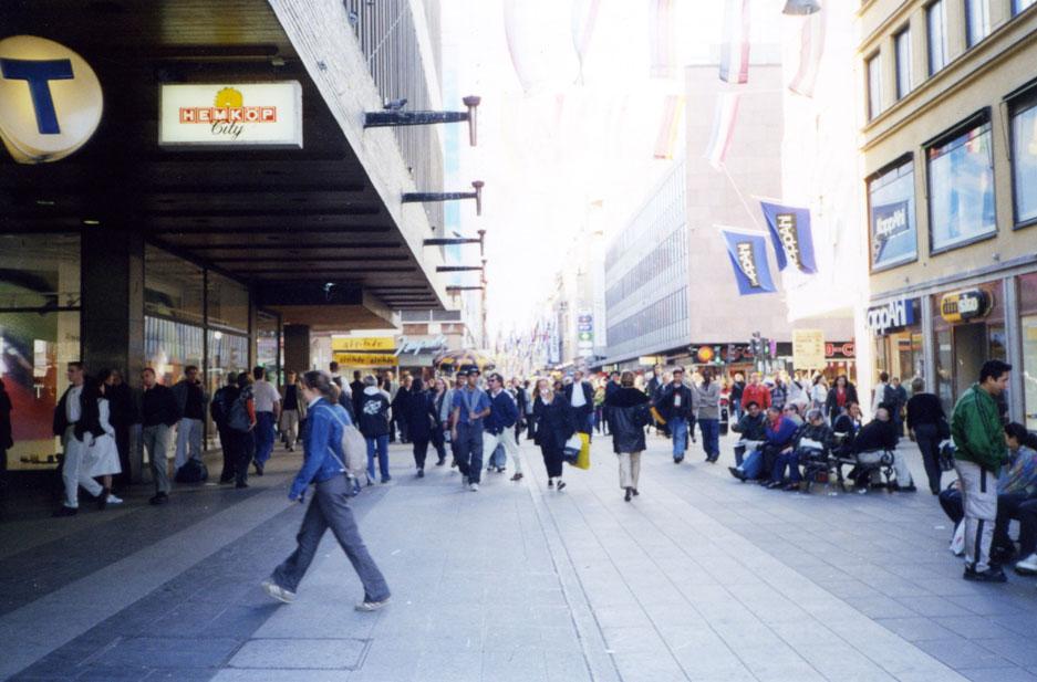Stokholm'ün alışveriş bölgesi