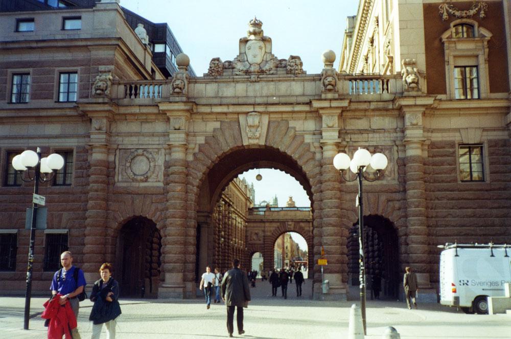 Eski Şehir bölgesinde Riksgatan Kapısı
