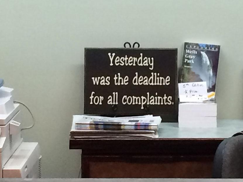 """Bir ofisteki """"iyi"""" yönetim örneği: Bütün şikayetler için başvuru süresi dün dolmuş..."""