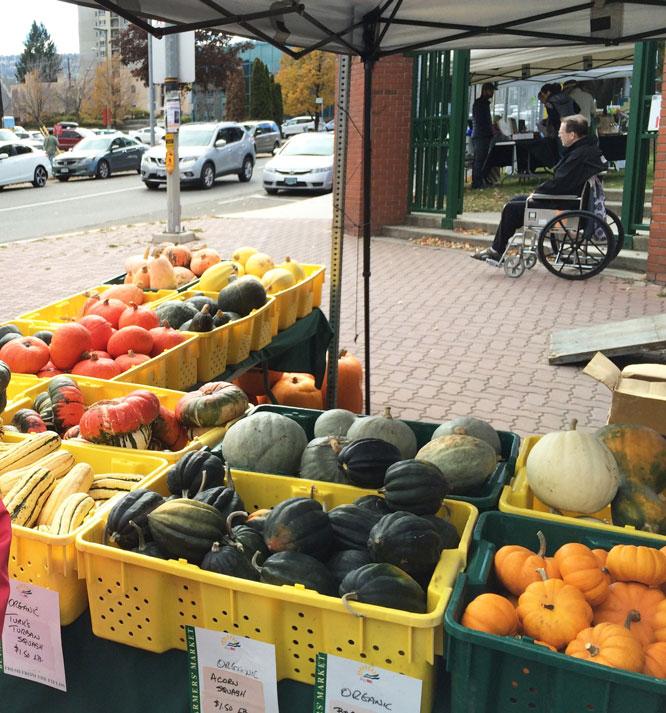 Kamloops'ta bir pazar yeri
