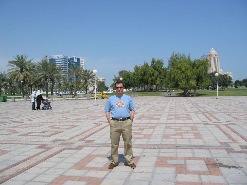 Doha'nın Kordon'u halkın vakit geçirebileceği geniş alanlar şeklinde düzenlenmiş