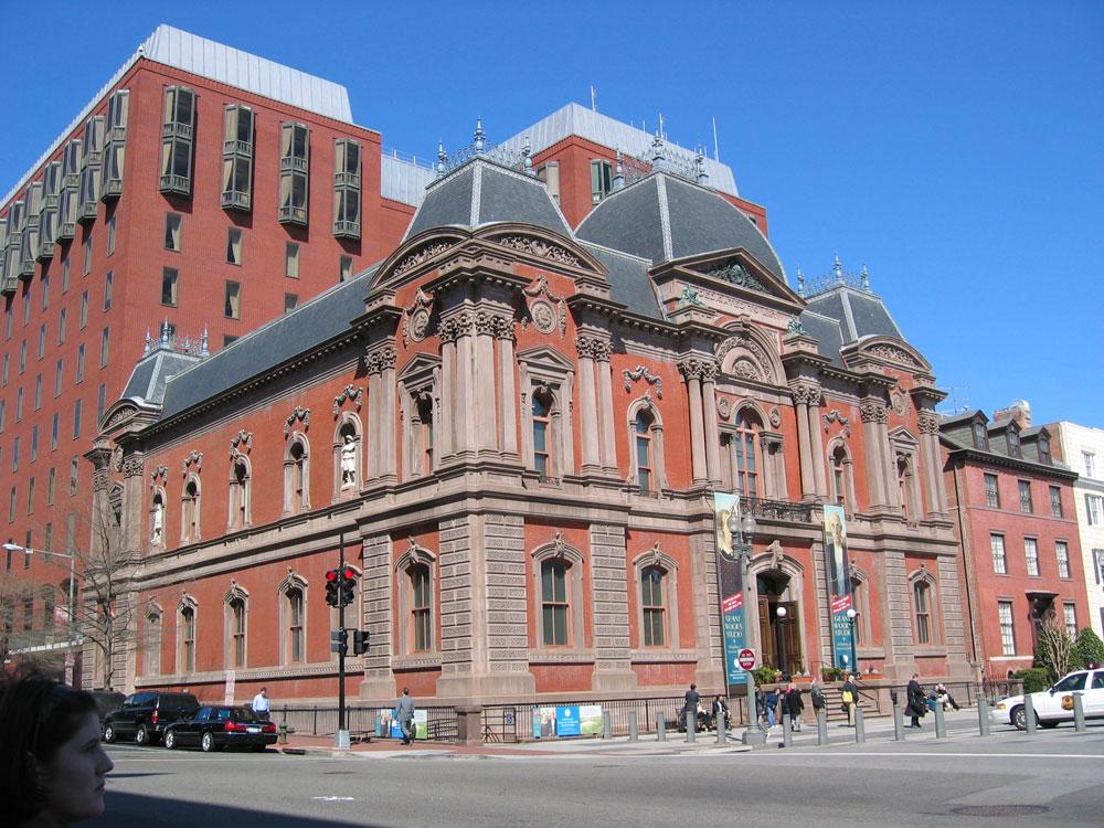 DC'deki çok sayıda müzeden biri: Smithsonian Amerikan Sanat Müzesi'nin Renwick Galerisi
