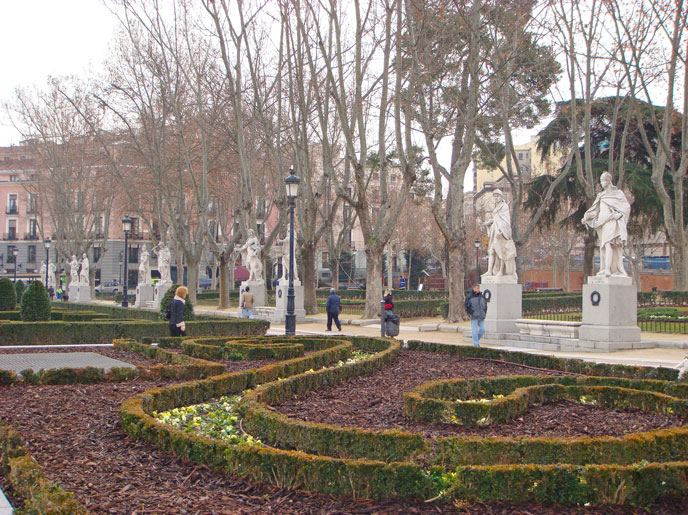 Madrid'de bir park