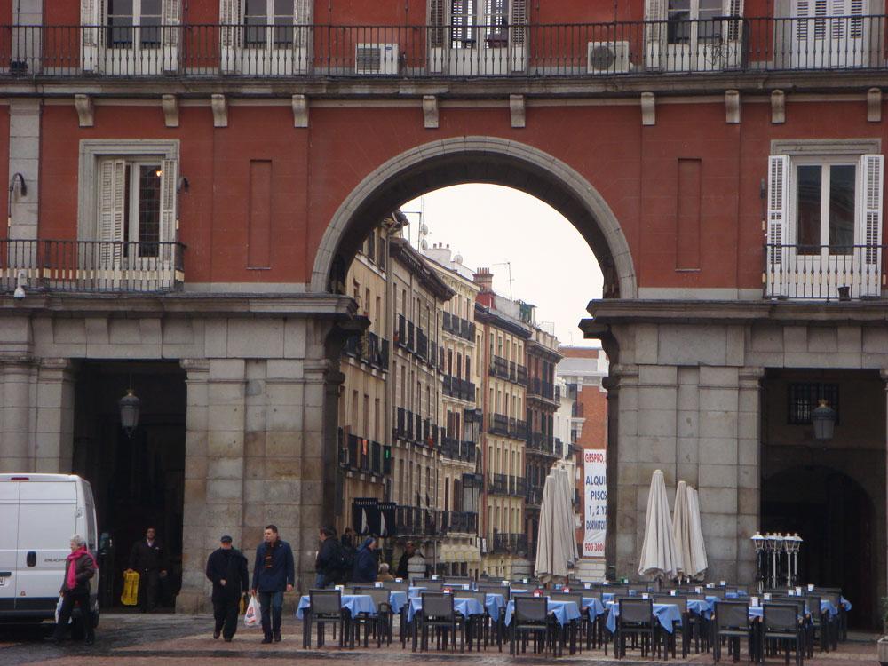 Madrid'deki Ana Meydan (Plaza Mayor)