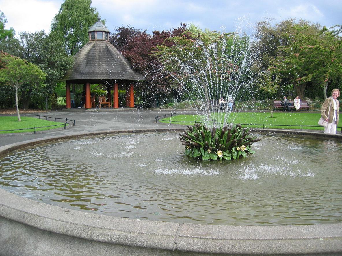 Dublin'in her yerinde rastlanan güzelim parklara bir örnek