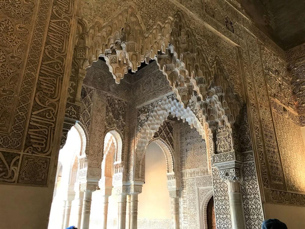 Nasrid Sarayı'ndaki ince işçilik