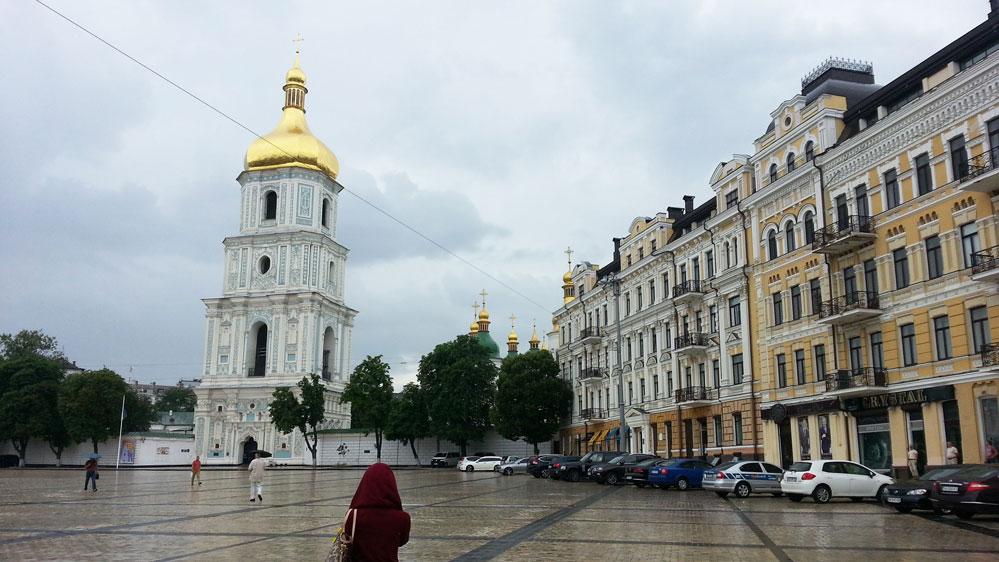 Kiev'de Sofiyska Meydanı