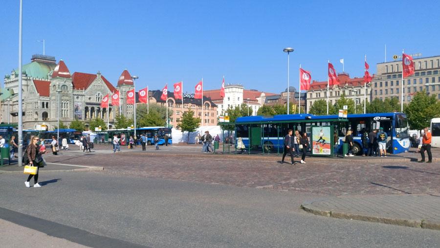 Demiryolu Meydanı'ndan bir görünüm