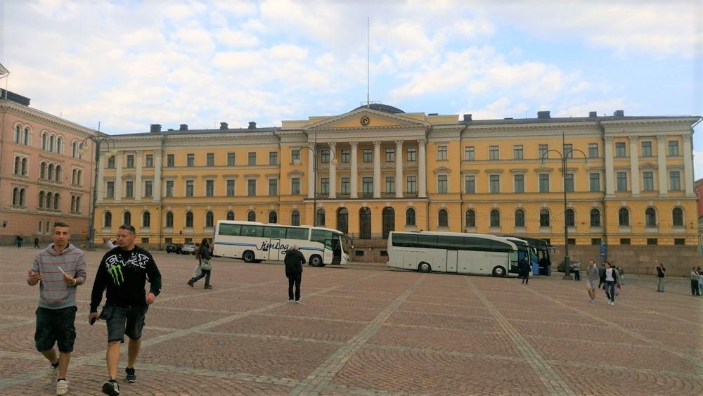 Helsinki Üniversitesi şehir merkezinde bulunuyor