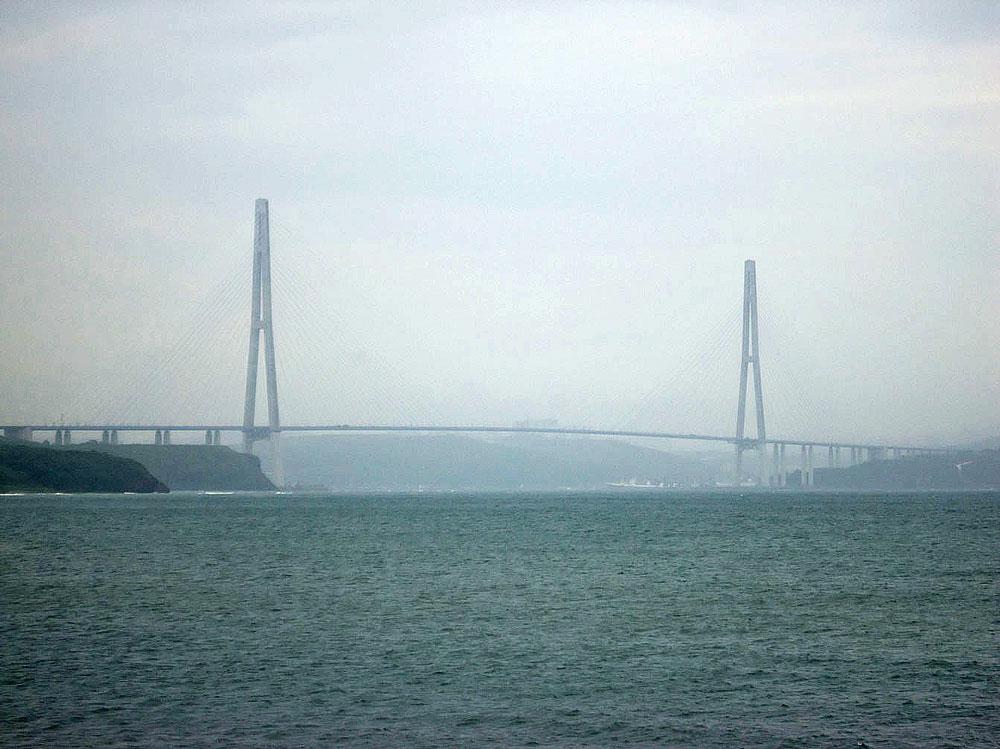 Vladivostok'ta Russkiy Most, yani Rus Köprüsü
